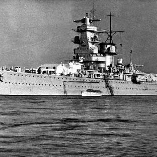 Lancaster And Morecambe Citizen: The German pocket battleship, Admiral Graf Spee, which fought an epic sea battle with the British Cruisers Exeter, Ajax and Achilles, at the mouth of the River Plate