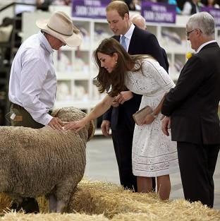 Lancaster And Morecambe Citizen: The Duke and Duchess of Cambridge at the Royal Easter Show at Sydney Olympic Park