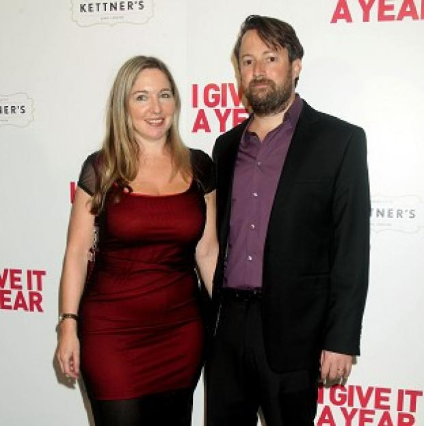 Lancaster And Morecambe Citizen: File picture of Victoria Coren Mitchell with her husband David Mitchell.