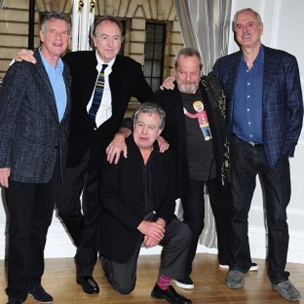 Lancaster And Morecambe Citizen: Left to right: Michael Palin, Eric Idle, Terry Jones, Terry Gilliam and John Cleese, the five remaining Pythons
