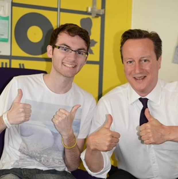 Lancaster And Morecambe Citizen: Teenage cancer patient Stephen Sutton was visited by Prime Minister David Cameron