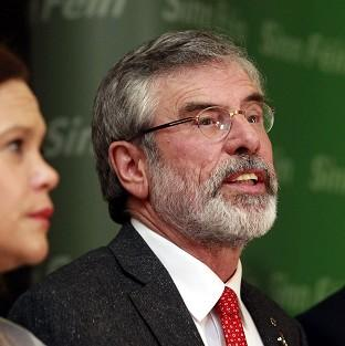 Lancaster And Morecambe Citizen: Gerry Adams speaks to the media in Belfast after his release following five days of police questioning (AP)