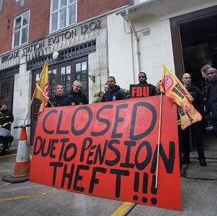 Lancaster And Morecambe Citizen: Euston fire station in central London where firefighters staged a strike in a row over pensions