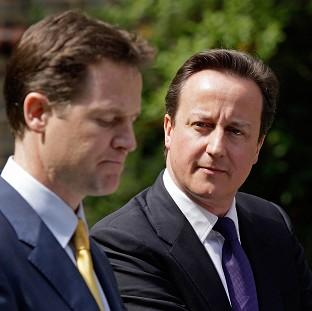 Lancaster And Morecambe Citizen: Prime Minister David Cameron, right, and Deputy Prime Minister Nick Clegg must agree on rules for the coalition's final year, a think tank said