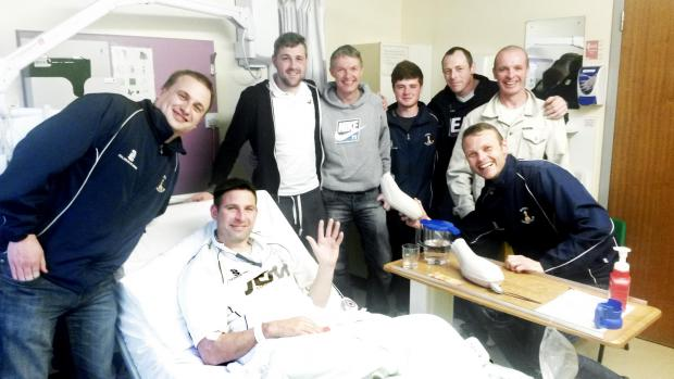 Lancaster And Morecambe Citizen: Andrew Cook and his team-mates at Furness General Hospital