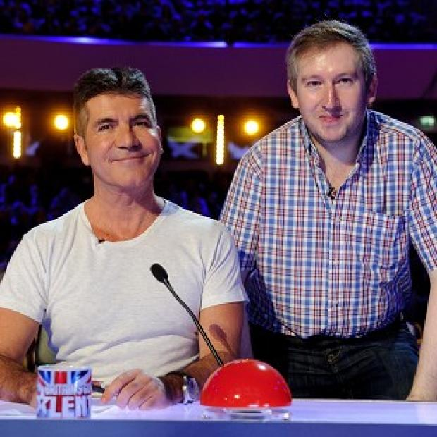 Lancaster And Morecambe Citizen: Contestant Simon Cowell with Simon Cowell on the ITV television programme Britain's Got Talent.
