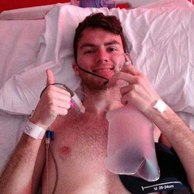 Lancaster And Morecambe Citizen: Stephen Sutton, 19, has told his supporters via Facebook that he is back in hospital