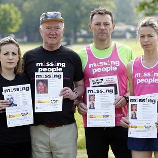 Lancaster And Morecambe Citizen: From left, Rachel Elias, Peter Lawrence, Gerry and Kate McCann before running in the Missing People Charity Run on Clapham Common