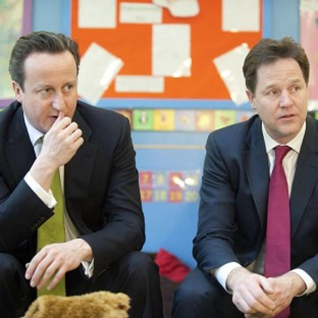 Lancaster And Morecambe Citizen: David Cameron says he has a good working relationship with Nick Clegg