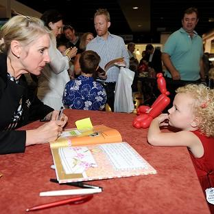 Lancaster And Morecambe Citizen: Children's author Lauren Child during a book signing