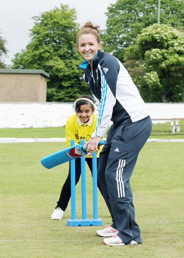 Lancaster And Morecambe Citizen: Kate Cross starred with the bat