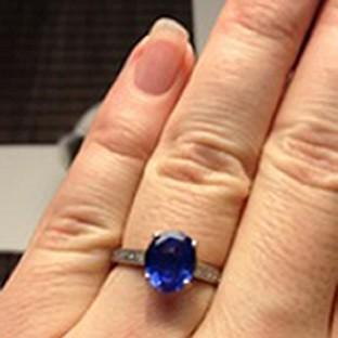 Lancaster And Morecambe Citizen: The hand-made engagement ring which was stolen from the church