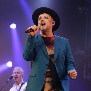 Lancaster And Morecambe Citizen: Boy George performing in the Big Top Stage at the Isle of Wight Festival