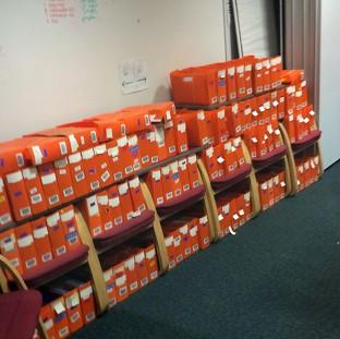 Lancaster And Morecambe Citizen: Boxes of passport applications which have piled up in an office in Liverpool