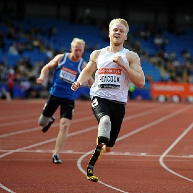 Lancaster And Morecambe Citizen: Ben has received some tips on how to run on blades from British Paralympic champion Jonnie Peacock, pictured