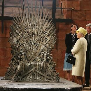 Lancaster And Morecambe Citizen: The Queen during a visit to the set of Game of Thrones in Northern Ireland