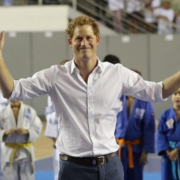 Lancaster And Morecambe Citizen: Prince Harry plays basketball in Belo Horizonte on the second day of his tour of Brazil