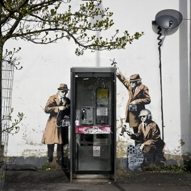 Lancaster And Morecambe Citizen: The Banksy mural in Cheltenham