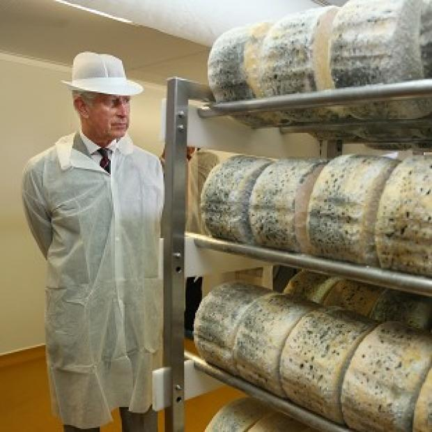 Lancaster And Morecambe Citizen: Charles visited a cheesemaker during his tour of Wales