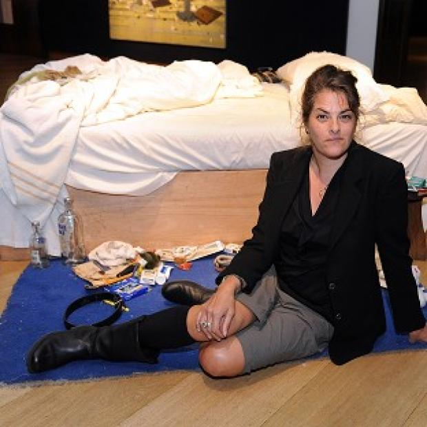 Lancaster And Morecambe Citizen: Tracey Emin with her work My Bed
