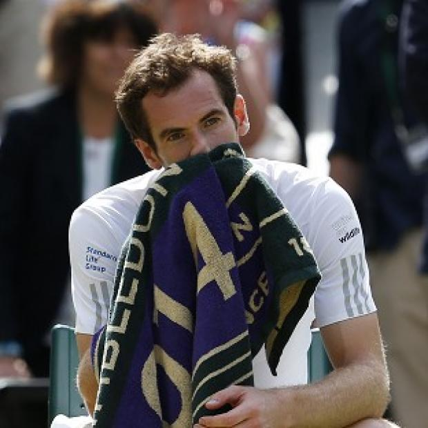 Lancaster And Morecambe Citizen: Andy Murray after losing to Bulgaria's Grigor Dimitrov during day 10 of Wimbledon