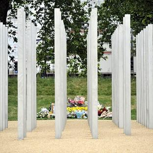 Lancaster And Morecambe Citizen: Messages were daubed on the July 7 memorial in London's Hyde Park