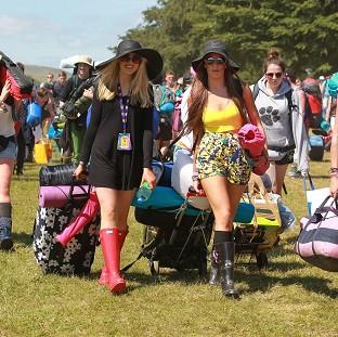 Lancaster And Morecambe Citizen: T in the Park festival-goers arrive at the campsite