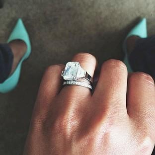 Lancaster And Morecambe Citizen: A picture from the Instagram account of Cheryl Cole showing her wedding ring
