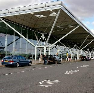 Lancaster And Morecambe Citizen: The plane was escorted to Stansted
