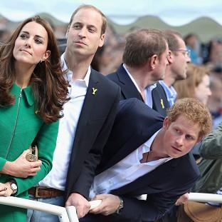 Lancaster And Morecambe Citizen: The Duke and Duchess of Cambridge, and Prince Harry, are watching events at the Commonwealth Games
