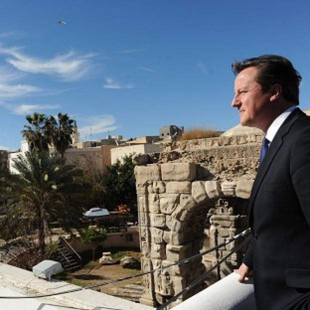 Lancaster And Morecambe Citizen: Prime Minister David Cameron looks out over Tripoli on a visit last year