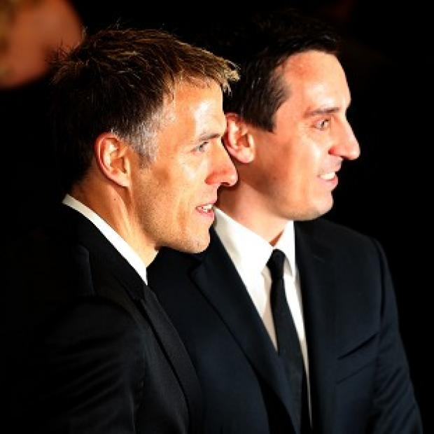 Lancaster And Morecambe Citizen: Phil Neville (left) with brother Gary at a film premiere