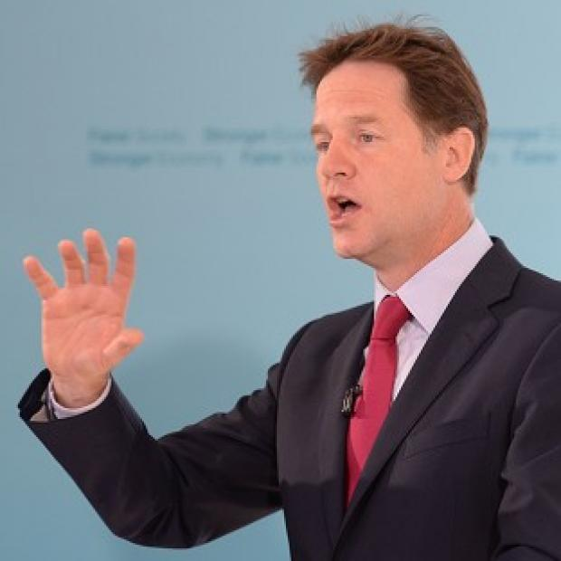 "Lancaster And Morecambe Citizen: Liberal Democrat leader Nick Clegg has called mental health issues a ""sort of Cinderella"""