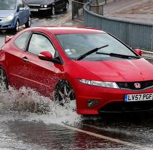 Lancaster And Morecambe Citizen: A flash flood caused problems for motorists