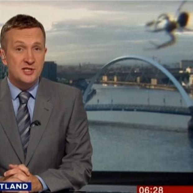 Lancaster And Morecambe Citizen: A spider 'photobombed' the Reporting Scotland broadcast (BBC News Scotland/PA Wire)