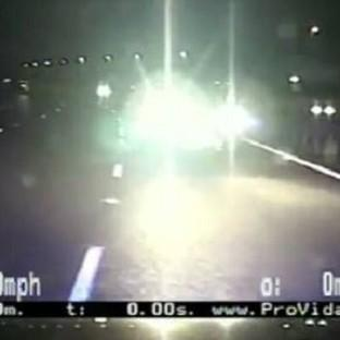 Lancaster And Morecambe Citizen: Footage of police car crashing into a vehicle being driven the wrong way down a motorway has been released