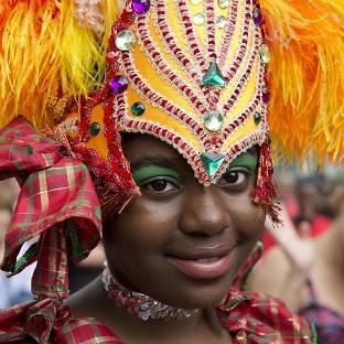Lancaster And Morecambe Citizen: A participant in the Notting Hill Carnival family day