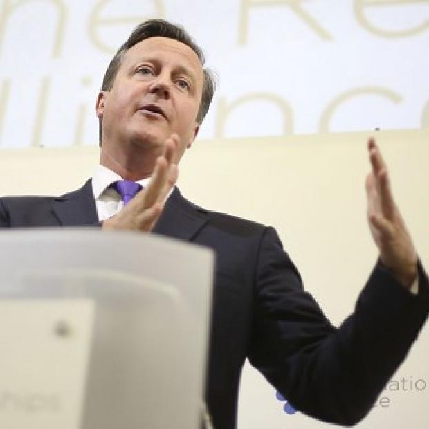 Lancaster And Morecambe Citizen: David Cameron has told business leaders that the UK is the 'greatest merger in history'