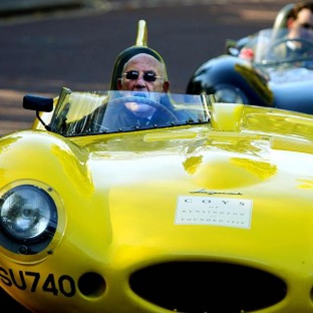 Lancaster And Morecambe Citizen: Sir Stirling Moss drives a 1959 Jaguar D-type Le Mans