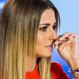 Lancaster And Morecambe Citizen: Cheryl Fernandez-Versini is left wiping away tears at the performance of Amy Connelly