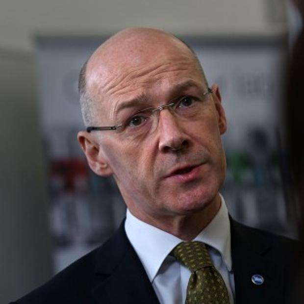 Lancaster And Morecambe Citizen: John Swinney said PMQs was a stark reminder of what a No vote would mean