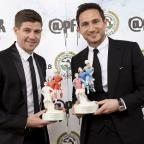 Lancaster And Morecambe Citizen: Frank Lampard, right, and Steven Gerrard were feted by the PFA on Sunday night