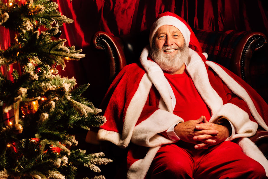 Samlesbury Hall: Waffles with Santa