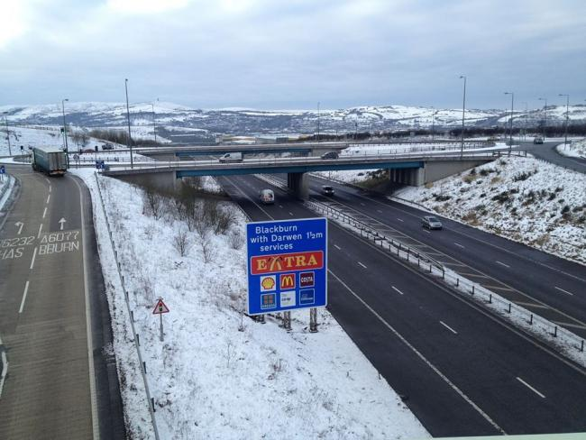 The M65 at Junction 4