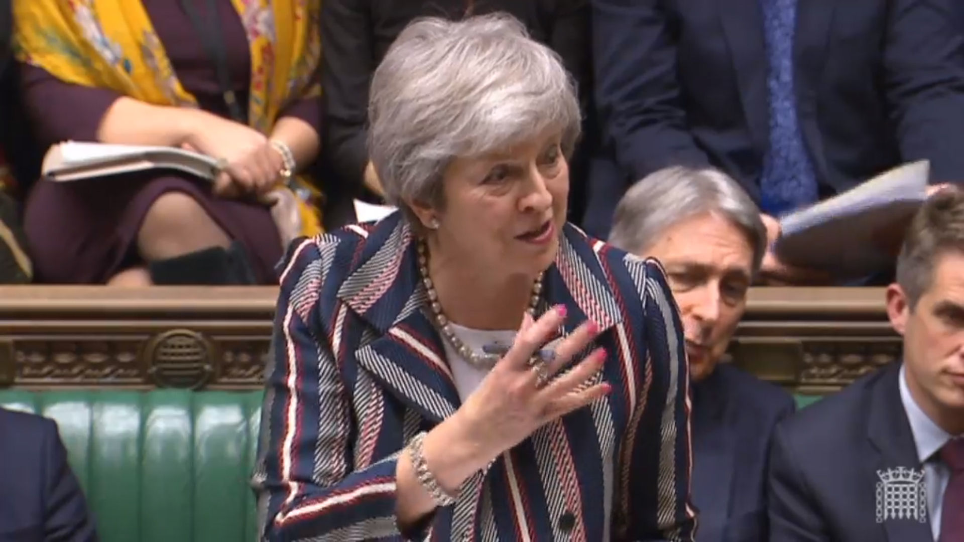 Prime Minister Theresa May addressing the House of Commons on Brexit.