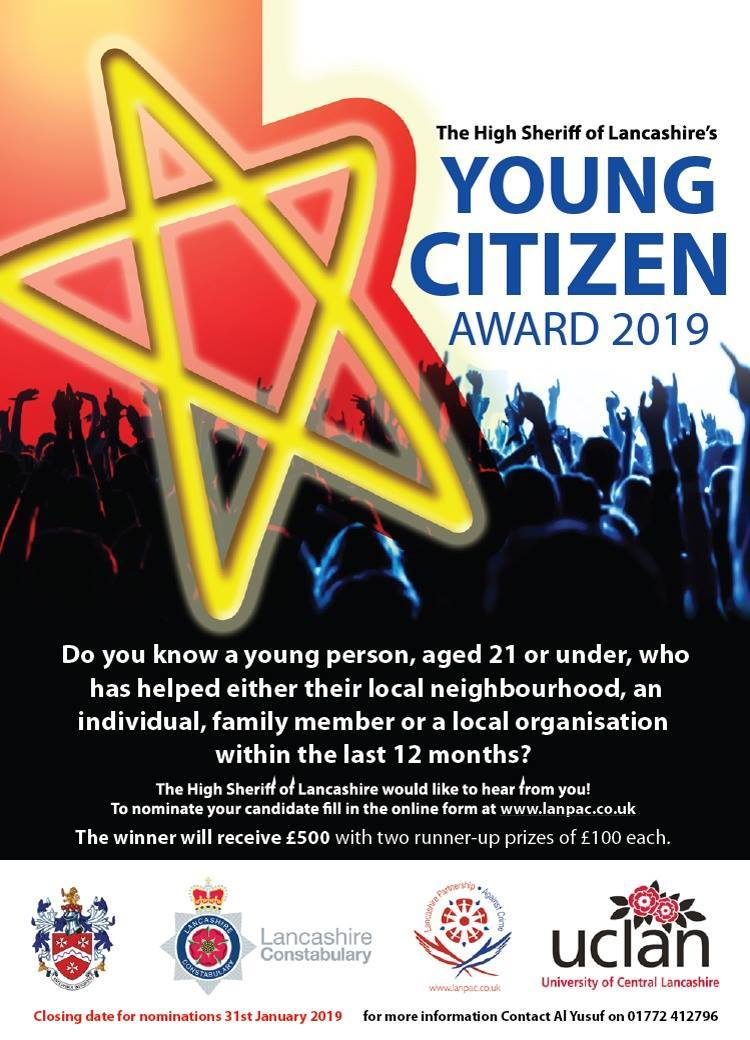 Applications are now open for Young Citizen of the Year Awards 2019