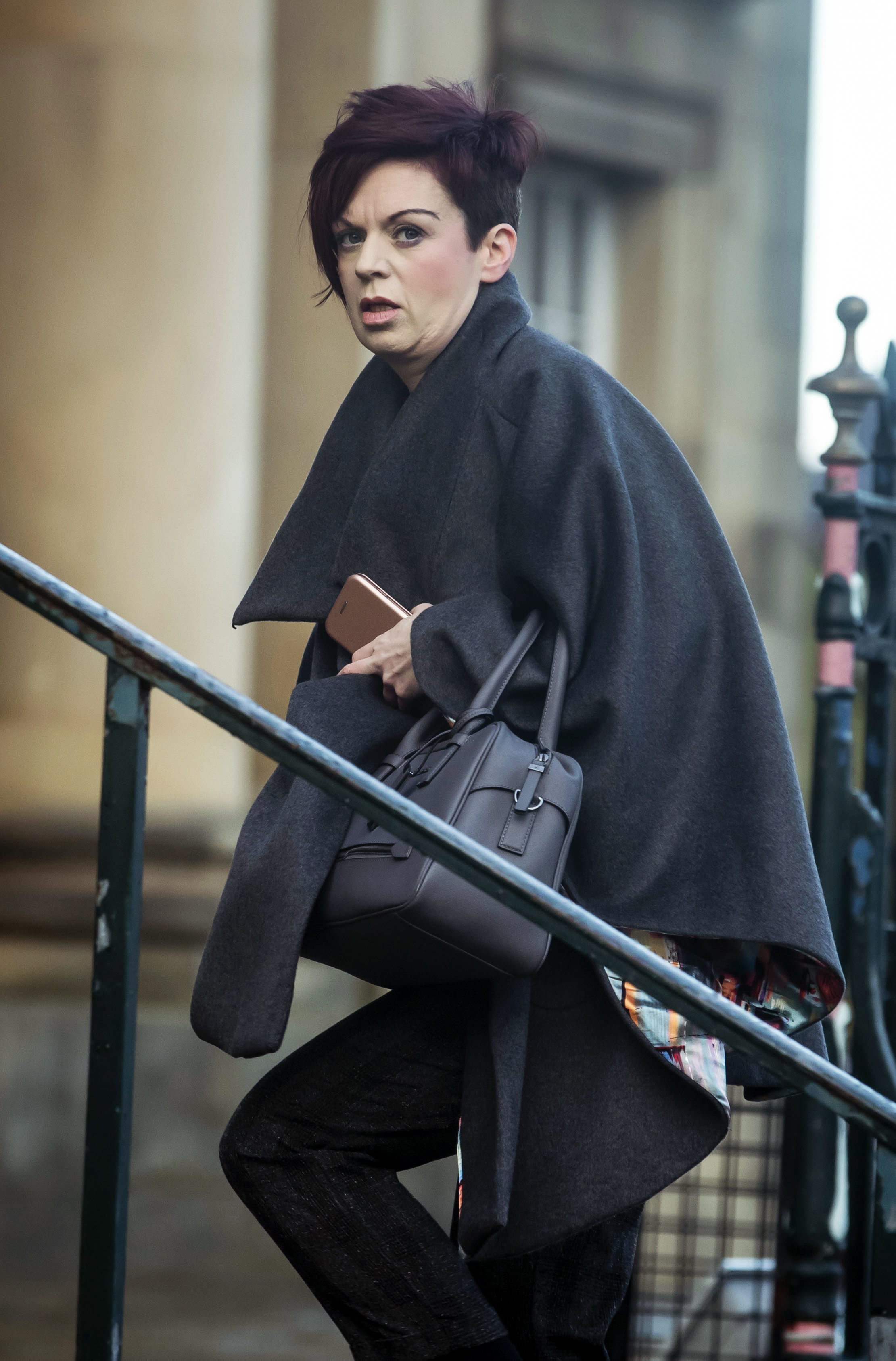 Patricia Robertshaw, who pretended to be ill, arrives at York Crown court ahead of pleading guilty to defrauding a cancer charity out of more than 90,000. PRESS ASSOCIATION Photo. Picture date: Wednesday January 9, 2019. Robertshaw, 42, who worked as a p