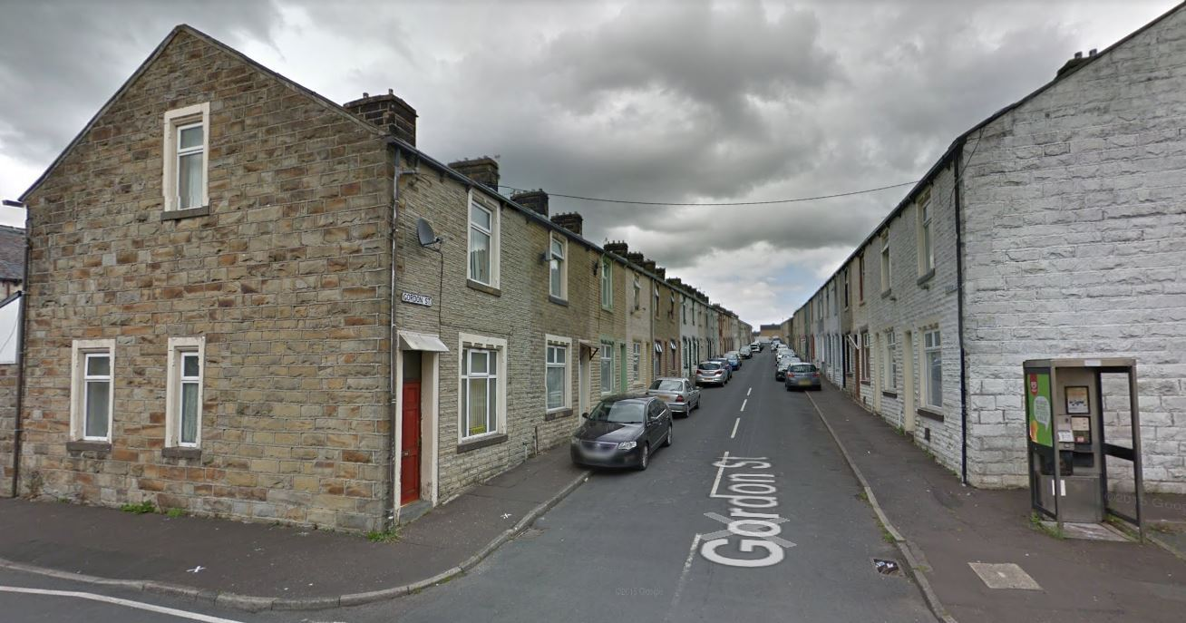 Fire crews tackled a house fire in Gordon Street, Burnley