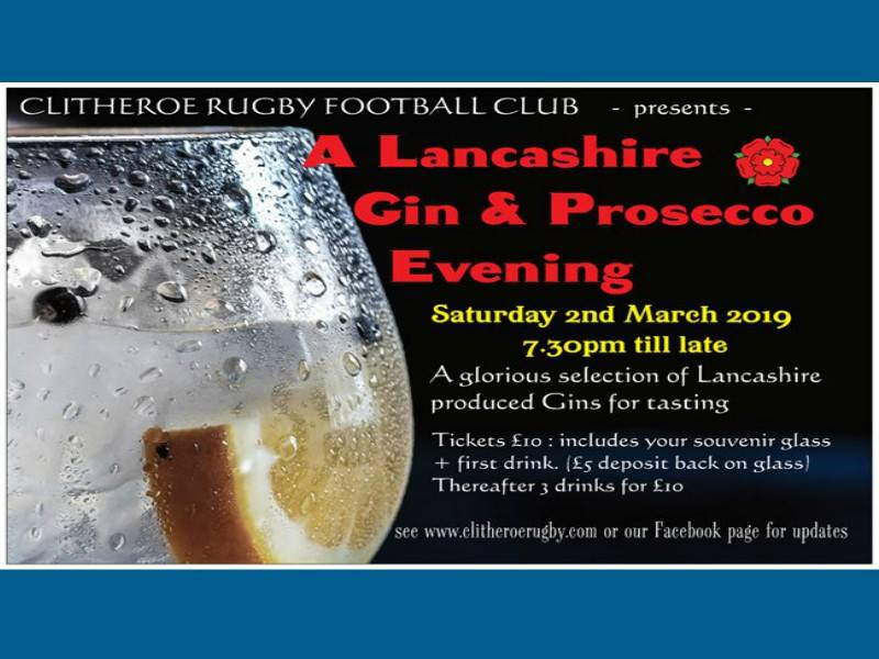 Lancashire Gin and Prosecco Night