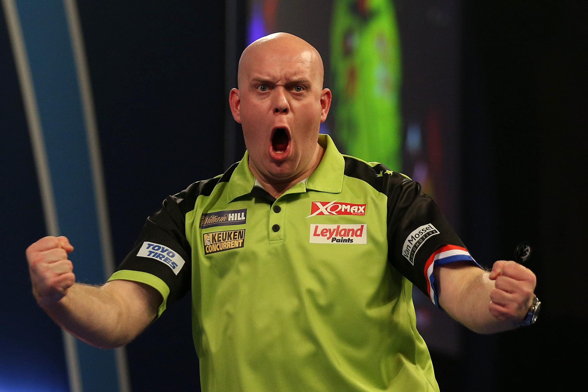Michael Van Gerwen returned to winning ways in Nottingham
